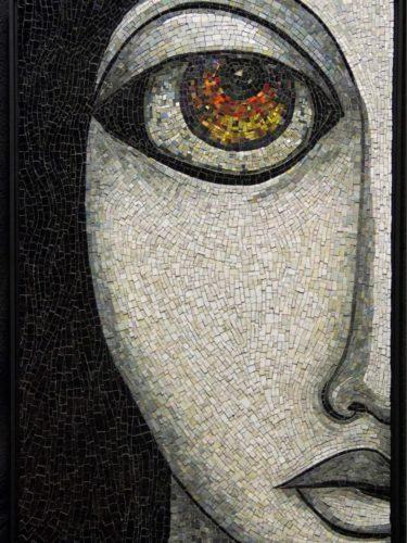 Jacki Gran, Fire Within, 2020, Mosaic Arts International 2021, Best In Show
