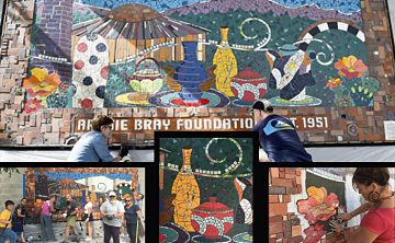 New mosaic mural in Helena, MT celebrates ceramic education