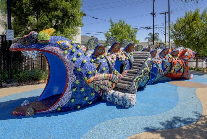 Mosaic Arts International 2016: BEST MOSAIC IN SITU PROJECT Benito Juarez Park 2014 Jolino Beserra Los Angeles, CA H 5.00' W 4.00' D 5.00' Location: Maywood, CA USA