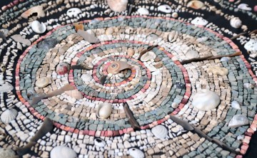 Fiddling While Rome Burns: climate change mosaics by member, Julie Sperling