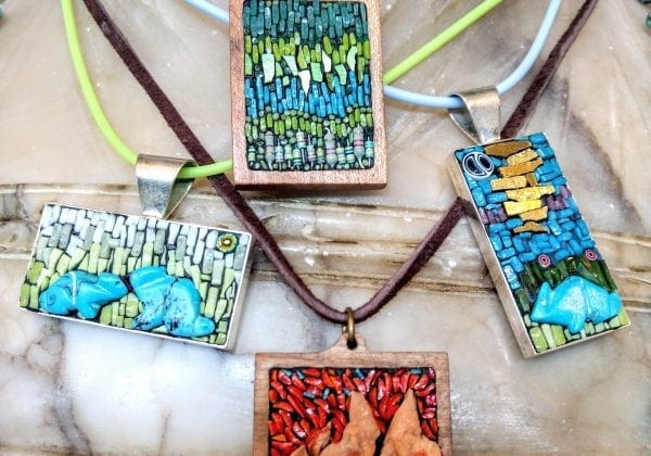 Tiny Stories:  Micro-Mosaic Jewelry in Stone and Glass with Rachel Sager