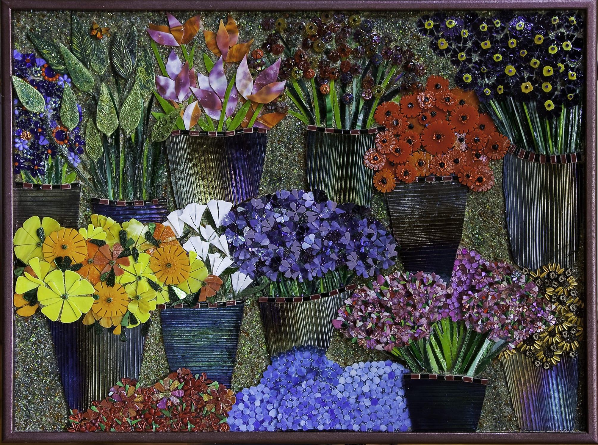 """At the Flower Market"" by Morrine Maltzman"