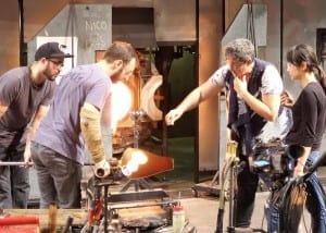 Mireille Swinnen at Museum of Glass Hot Shop