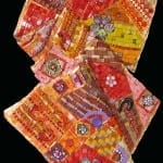 Wall hanging folded mosaic