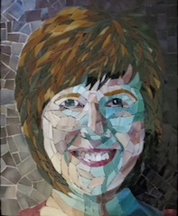 Bonnie Fitzgerald, Bonnie by Bonnie, created in workshop with Carol Shelkin, completed 2013, Stained Glass