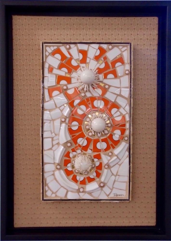 Deborah Williams, !Pop, 2016, glass, porcelain dishwear, sea spines