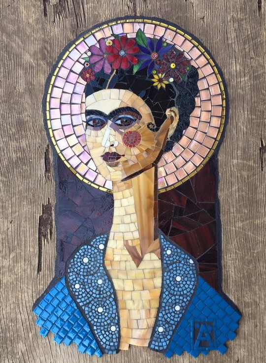 "Anne Marie Price ""Frida\"" 2016 Stained glass."