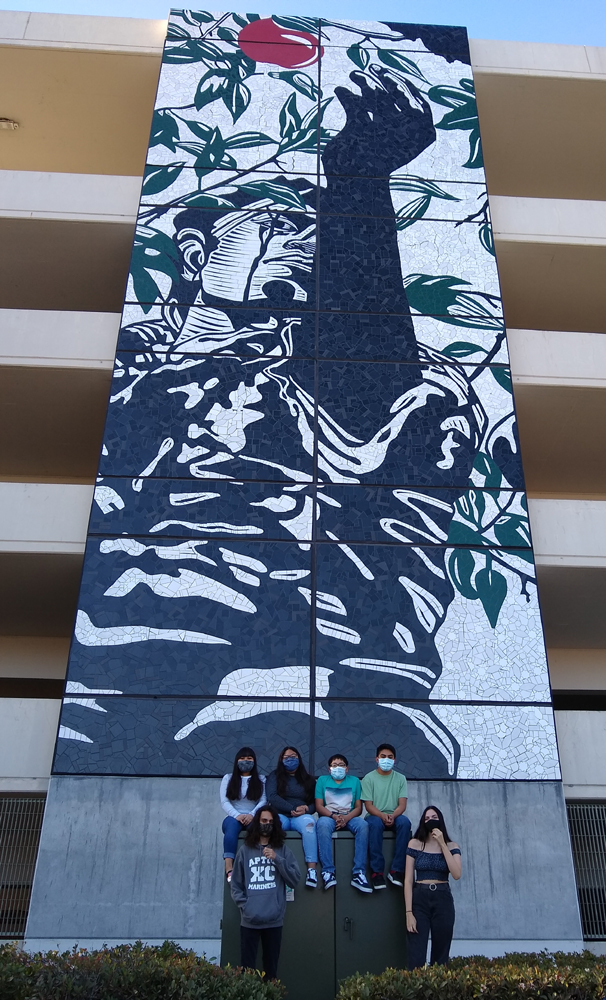Some of the youth who participated in our Community Service Summer Camp and helped fabricate the mosaic.