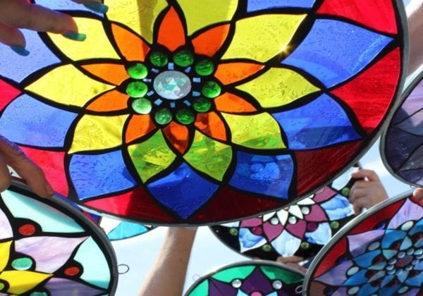 Glass on Glass Mosaic Mandala with Carrie Strope